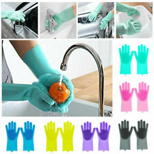 1Pack Magic Silicone Glove with Wash Scrubber for Dish Washing Car Kitchen Clean