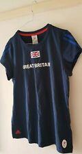 BNWT Adidas 2012 Paralympic Team GB Ladies Navy Union Jack T-Shirt, Size UK 16