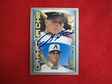 Josh Hamilton autograph baseball card   signature  Rays    authentic