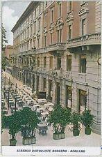 CARTOLINA d'Epoca  BERGAMO  citta'  - Albergo Ristorante Moderno