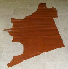 (RGE8260) Part Hide of Red Brown Cow Leather Hide Skin