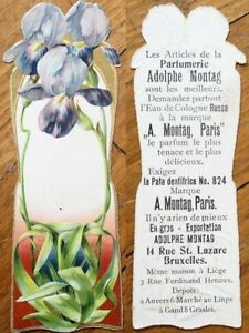Art Nouveau 1890 Perfume/Parfumerie Adolphe Montag- Paris Trade Card/Bookmark- 2