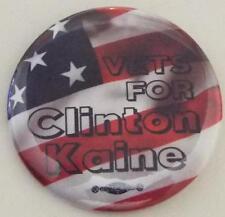 Officiel Vétérinaire pour Hillary Clinton & Tim Kaine 2016 Campagne Bouton