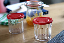 Set of 6 Jam Jar Drinking Glass Tumbler w/Lid Confiture Preserve Can Storage Pot