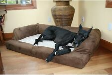 Extra Large Orthopedic Dog Bed Sofa Couch Pet Puppy Plush Luxury Cushion Brown