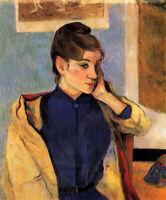 Oil painting paul gauguin - Madelaine Bernard sister of the artist Emile Bernard