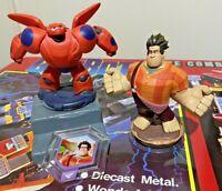 DISNEY INFINITY 1.0 2.0 BIG HERO 6 BAYMAX WRECK-IT RALPH FIGURES + POWER DISC!!!