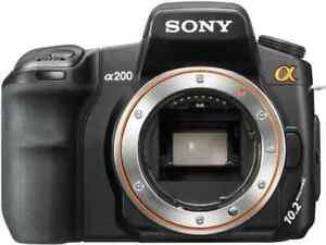 Sony Alpha DSLR A200 / A 200 Digitalkamera Foto Kamera Cam Nur Gehäuse Only Body