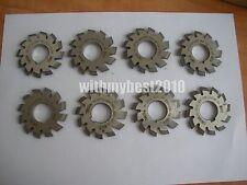 Lot 1set 8pcs Dp14 PA 14.5 Degree #1-8 Involute Gear Cutters