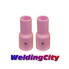 2 TIG Welding Large Gas Lens LONG Ceramic Cups 53N87L #12 | US Seller Fast Ship