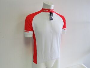 Set of 2 Verge Men's Large Red/White Short Sleeve Cycling Jersey