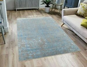 8X10 Blue Modern Rug Handknotted Traditional Rug Free Shipping Rug!!!....#2504