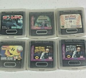 Sega Game Gear Lot of (6) Games With Official Plastic GameGear Storage Cases