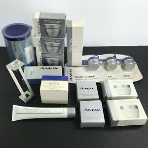AVON Anew: Exfoliant Thermafirm Night Force + Mixed Lot of 16 Anew Clinical +