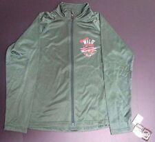 NEW NWT Minnesota Wild NHL Green Women's Zip-Up Fleece Jacket - Size Large 12/14