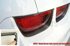 2010-2013 Camaro Carbon Fiber Tail Light Bezel Decal kit - Chevy cover sticker