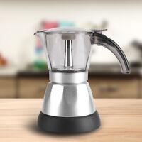 220V Electric 6 Cups Espresso Coffee Maker Percolator Stovetop Moka Pot MF
