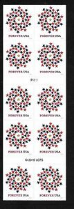 Patriotic Spiral - (forever) 2016 Issue - MNH Booklet Pane of 10