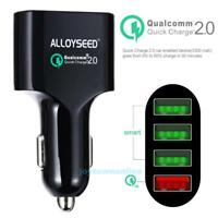 ALLOYSEED Quick Charge 2.0 54W 4-Port USB Car Charger Adapter Fast Charging