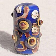 JAVA Handmade Art Glass Focal Bead Flaming Fools Lampwork Art Glass SRA