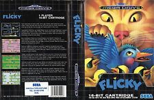 Flicky Sega Megadrive PAL EU Replacement Box Art Case Insert Reproduction