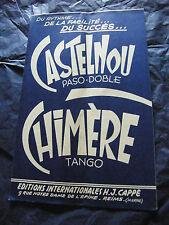 Partitura Quimera De Castelnou H J Cappe Tango-pasodoble