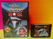 Heavy Nova - Sega Genesis RAre Game w/ CASE + Cover Art - Tested Working