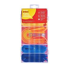 Amtech 50pc Cable Tidy Assortment Hook and Loop Straps Multi Purpose 5 Colours