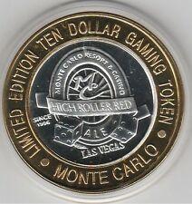 2000 Monte Carlo Mill. High Roller Red Ale .999 Fine Silver $10 Casino Token