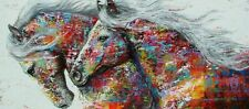 """Modern Colorful Horses PICTURE CANVAS WALL ART 16""""X30"""" wall art"""