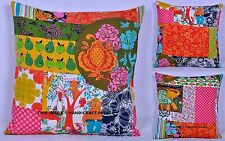 "16"" INDIAN PATCHWORK LOOK COTTON CUSHION COVER THROW PILLOW CASE HOME SOFA DECOR"