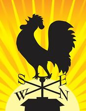 METAL MAGNET Silhouette Rooster Weathervane Sun Bird Roosters Birds MAGNET X
