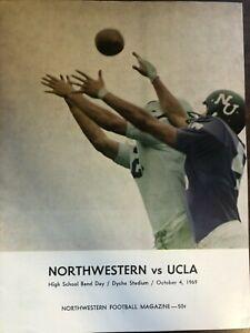NORTHWESTERN VERSUS UCLA OFFICIAL COLLEGE FOOTBALL PROGRAM 1969 EXCELLENT
