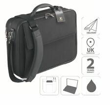 """16"""" Laptop Briefcase Attache Business Bag Case Black FI2574"""