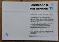 orig. Prospekt Schlüter Landtechnik von morgen Folge 12 Schlepper 36Seiten 1971