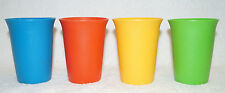 4 Tupperware Tumbler Drink Cup Small Size G 109 yellow green blue red Set Lot