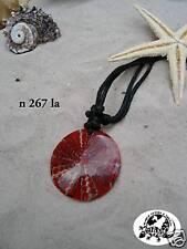 BRAND NEW RED POLYRESIN WEB NECKLACE PENDANT ON ADJUSTABLE BLACK CORD / n267la