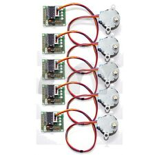 5 Pcs DC 5V Stepper Step Motor + Driver Test Module Board ULN2003 For Arduino