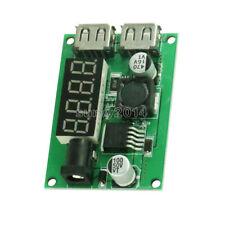 DC-DC 12V/24V/36V to 5V 3A Dual USB Step Down Buck Converter Voltmeter For Car