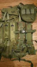 Real US Med LC1 Alice Pack + Camo + OD Green Shoulder + Sternum Straps + Canteen