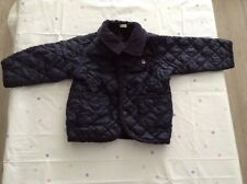 Baby Boys United Color Of Benetton Navy Quilted Jacket, Size 9-12 Months