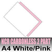 25 sets x A4 Carbonless NCR Duplicate Paper 2 Part White & Pink - Inkjet & Laser