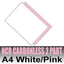 25 sets x A4 Carbonless NCR Duplicate Paper 2 Part White & Pink - Inkjet & Laser