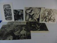 Rudolf Rothe Konvolut aus 7 verschiedenen Radierungen/Aquatinta,datiert,signiert