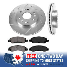 Front Drill Slot Brake Rotors And Ceramic Pads Kit Chevy GMC 2WD 4WD 4X4