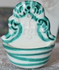 Gmundner Keramik Weihbrunnkessel, grüngeflammt, gebraucht