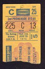 1975 Rolling Stones Eagles Rufus Concert Ticket Stub Madison Square Garden 6/26