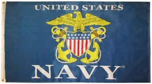 3x5 US United States Navy Shield 3'x5' Premium Quality 100D Polyester Flag (RUF)