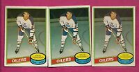 3 X 1980-81 OPC # 360 OILERS DAVE SEMENKO 2ND YEAR EX+  CARD (INV# A3050)