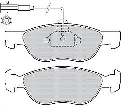 Brakeworld BW654 Front Brake Pad Set